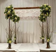 chuppah - without the sticks...