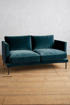 Anthropologie Velvet Linde Settee