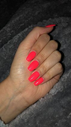 Nageldesign neon coral nails 5 Steps To Excellent Hair Your hair is your crowning glory. Cute Acrylic Nails, Cute Nails, Pretty Nails, My Nails, Neon Coral Nails, Neon Nail Colors, Red Orange Nails, Coral Nails With Design, Bright Colored Nails