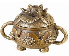 Bronze Lotus Incense Burner