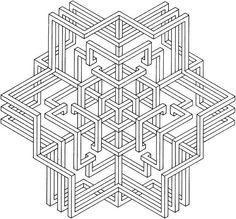 images of printable hard  geometric coloring pages | Geometric Shapes Coloring Page