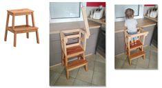 Marche-pied Ikea transformé en tour d'observation d'inspiration Montessori...