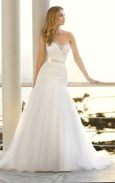 W370 Soft Tulle Mermaid Beach Wedding Dress 2014 € 125,45