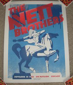 AVETT BROTHERS concert gig tour poster 11-22-13 2013 CHICAGO the carpenter