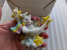 Enesco Starlight Starbright Unicorn Figurine Relax and Enjoy, 1995 Enesco, 1995…