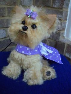 EMMA Yorkie puppy dog mohair by By Brigitte Crowe | Bear Pile