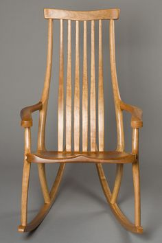 Handcrafted Contemporary Butterfly Rocking Chair by Scott Morrison