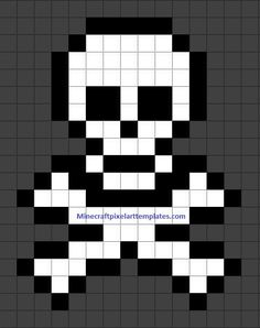 MINECRAFT PIXEL ART – One of the most convenient methods to obtain your imaginative juices flowing in Minecraft is pixel art. Pixel art makes use of various blocks in Minecraft to develop pic… Pixel Art Templates, Perler Bead Templates, Perler Patterns, Skull Pixel Art, Pixel Art Grid, Minecraft Pixel Art, Minecraft Skull, Minecraft Banners, Minecraft Tips