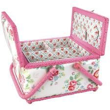 Cath Kidston - Trailing Floral Twin-Lidded Sewing Basket