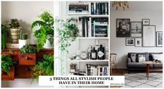 It doesn't matter if it is a decor magazine or a furnishing blog there is 3 things that you will ALWAYS find in the home of a stylish person.
