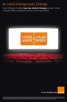 #pub #Orange #Cineday le mardi change avec Orange