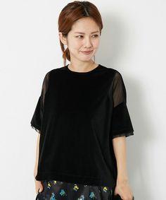 AMERICAN RAG CIE  【WOMENS】(アメリカン ラグシー ウィメンズ)の切り替えプルオーバー(Tシャツ/カットソー)|ブラック
