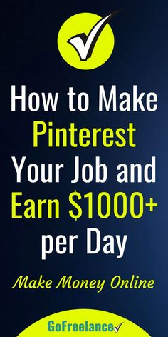 Love Pinterest? Then why not make spending time on Pinterest your full-time job. Have fun browsing and pinning, and get paid well for doing it. If you love spending time on Pinterest, you should consider making a career of it. Yes, that's right. You can a Online Earning, Earn Money Online, Online Income, Cultura General, Make Easy Money, Earn Money From Home, Money Today, Money Fast, Work From Home Jobs