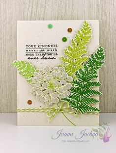 Jeanne Jachna: A Kept Life – Tag You're It - Meadow Greensm - 2/27/15.  (Stamps & Dies :  Papertrey Ink Meadow Greens)