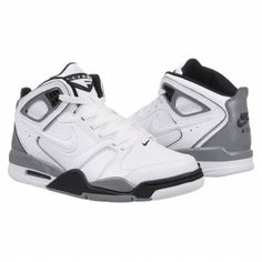 Athletics Nike Men's Air Flight Falcon White/Black/Cool Gre FamousFootwear.com
