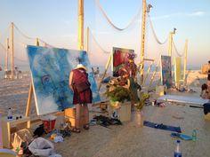 Arte sulla spiaggia di velluto di Senigallia...