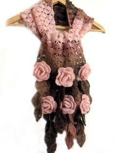 Crochet scarf Freeform crochet 3D crochet by allmadewithlove