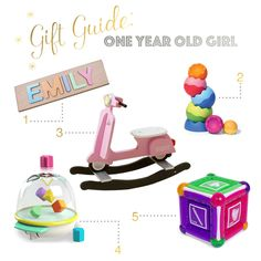 All of our favorite gifts and toys for babies and 1 year olds gift guide one year old girl personalized name puzzle tobbles neo vespa negle Gallery