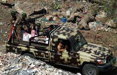 A Yemen Army Toyota Land Cruiser HZJ79 technical armed w/DShKM.