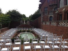 Rollins Mansion - Garden | Des Moines, IA | Did you get married here? Tell us about it, and have your wedding featured on our website! www.thevowlocale.com