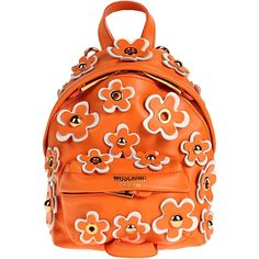 862e5617c4bf Moschino Backpacks & Fanny Packs ($894) ❤ liked on Polyvore featuring bags,  orange