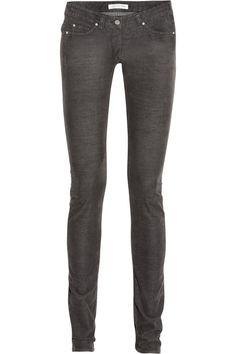 Étoile Isabel Marant|Iti stretch fine-corduroy mid-rise skinny jeans|NET-A-PORTER.COM