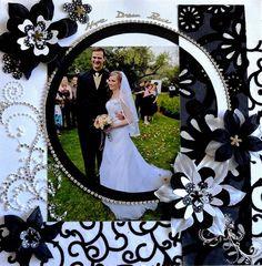 Resultado de imagem para Wedding Scrapbook Layouts