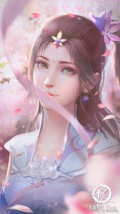 Chica Fantasy, Anime Art Fantasy, Fantasy Art Women, Beautiful Fantasy Art, Beautiful Anime Girl, Dark Fantasy Art, Fantasy Girl, Fantasy Artwork, Anime Angel Girl