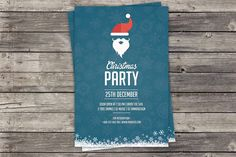 Christmas Party Invitation Flyer by SmmrDesign on Creative Market
