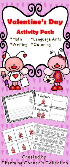 Valentine's Day Activity Pack. Kindergarten, First Grade and Second Grade. Keep the learning going with fun activities.  Enjoy this Valentine's Day Freebie!