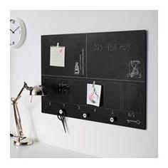 IKEA - MÅLARNA, Planungstafel, Die Knöpfe am unteren Rand sind praktisch zum Aufhängen von Schlüsseln und Ähnlichem.