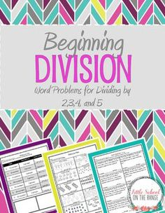 Looking for a way to introduce division to your students? This FREEBIE is a sample of my complete unit. It covers the basic division facts of dividing by and Each set of facts is introduced by using manipulatives before moving on to the division problems. 3rd Grade Division, Math Division, Division Activities, Math Activities, Special Education Classroom, Math Classroom, Math Education, Classroom Ideas, Singapore Math
