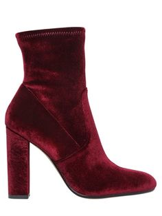 Steve Madden Editt Stretch Velvet Ankle Boots In Bordeaux Velvet Ankle Boots, Ankle Booties, Bootie Boots, Shoe Boots, Women's Shoes, Short Heel Boots, High Heel Boots, Heeled Boots, How To Stretch Shoes