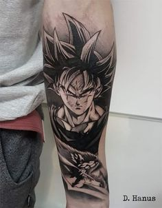 Goku tattoo done by To submit your work use the tag And don't forget to share our page too! Hand Tattoos, Body Art Tattoos, Sleeve Tattoos, Cool Tattoos, Z Tattoo, Forearm Tattoo Men, Future Tattoos, Tattoos For Guys, Tattoos Faciles