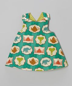 Love this Green Bali Reversible A-Line Dress - Infant, Toddler & Girls by Lollypop Ink on #zulily! #zulilyfinds