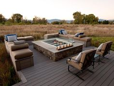 - HGTV Dream Home Entertainment Deck Pictures on HGTV.take away the gas fire and this is what I want:)