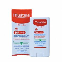 Approved by the Melanoma International Foundation, the mineral-based Mustela Broad Spectrum SPF 50+ Mineral Sunscreen Stick protects your little one from harmful UVA and UVB rays. www.rightstart.com