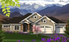 House Plan 97320 - Craftsman, Ranch Style House Plan with 1683 Sq Ft, 2 Bed, 2 Bath, 3 Car Garage Rambler House Plans, Ranch House Plans, Craftsman House Plans, Best House Plans, House Floor Plans, Craftsman Style, Craftsman Ranch, Craftsman Cottage, Open Concept Floor Plans