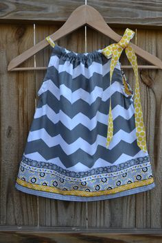 Chevron Pillowcase Dress for Babies Children and by ThreeHSisters, $24.00
