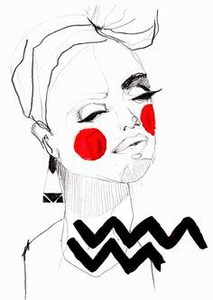 Erfahre wie du Schritt für Schritt Gesichter zeichnen lernen kannst ! Außerdem zeige ich dir verschiedene Gestaltungsmöglichkeiten für ein tolles Ergebnis. Hermine on walk | Drawing | Sketchbook | Fashion Illustration | Fashion Sketchbook | Graphic Design