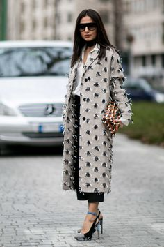❤ #street #fashion #snap from Milan Fashion Week. Photo: Imaxtree.