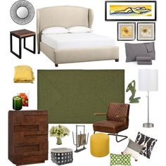 Earth tone bedroom design by nataly-blowe on Polyvore featuring polyvore, interior, interiors, interior design, home, home decor, interior decorating, Dot & Bo, Pottery Barn, Surya, Lights Up!, Safavieh, Calvin Klein, Woven Workz, Pinetti, V Rugs & Home, DwellStudio, Loloi Rugs, Organize It All, DayNa Decker, bedroom, Home, earthy and palette