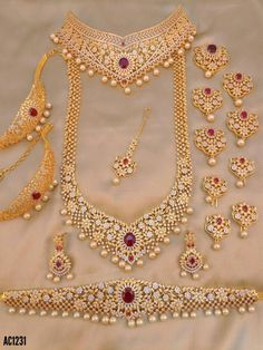 How To Clean Gold Jewelry With Vinegar Indian Bridal Jewelry Sets, Silver Jewellery Indian, Wedding Jewelry Sets, Bridal Jewellery, Cz Jewellery, Temple Jewellery, Vintage Jewellery, Jewelry Design Earrings, Gold Jewellery Design