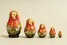 "5 Piece ""Vyatskaya Matryoshka"" number 60480 - 677"