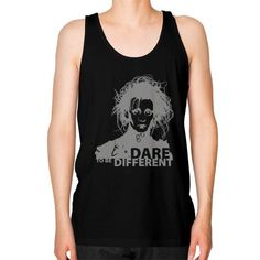 DARE TO BE DIFFERENT Unisex Fine Jersey Tank (on man)