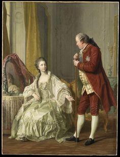 Louis-Michel Van Loo, Portrait du marquis de Marigny et de sa femme, 1769