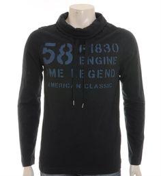 PME Legend Pall Mall T-shirt met hangcol - NummerZestien.eu