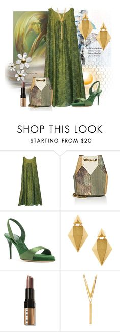 """""""Untitled #4414"""" by empathetic ❤ liked on Polyvore featuring Jérôme Dreyfuss, Paul Andrew, Stephanie Kantis, Bobbi Brown Cosmetics and BERRICLE"""