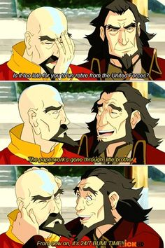 It gets me every time that Aang named Bumi after Bumi. I wonder when/how Bumi died. Korra Avatar, Team Avatar, Blade Runner, Water Tribe, Iroh, Fire Nation, Zuko, Legend Of Korra, Avatar The Last Airbender