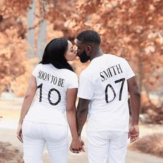 """Soon-to-be-Smith! So cute. #Munaluchi #munaluchibride . . . #Repost @iamlonni Soon To Be Mrs.Smith...30 days until we say """"I Do to OUR Forever"""" #lueandlonnisayido Shirts By: @premium_designz_ Photo By: @mr1080photoz"""